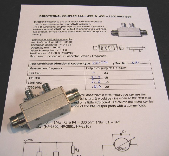 RF HAMDESIGN - N-Series Directional Coupler