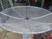 VK4KHZ: Dish ready to mount 3-leg dish feed support