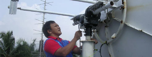 BIG-RAS/HR and 3.7 meter Mesh Dish (Lapan - Indonesia)