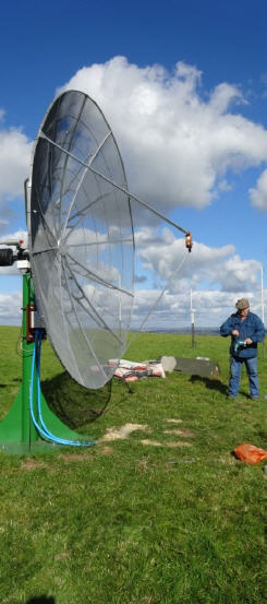 Radio Astronomy Enthusiast Mr. Dave James (UK) 3Metet Dish and BIG-RAS/HR Rotor