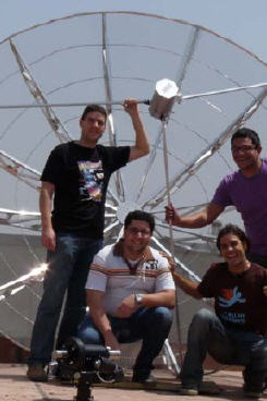 3 Meter dish and happy users (Spain)