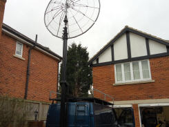 G8DMU, UK Ham Radio sttion construction of a Portable 3Meter Dish